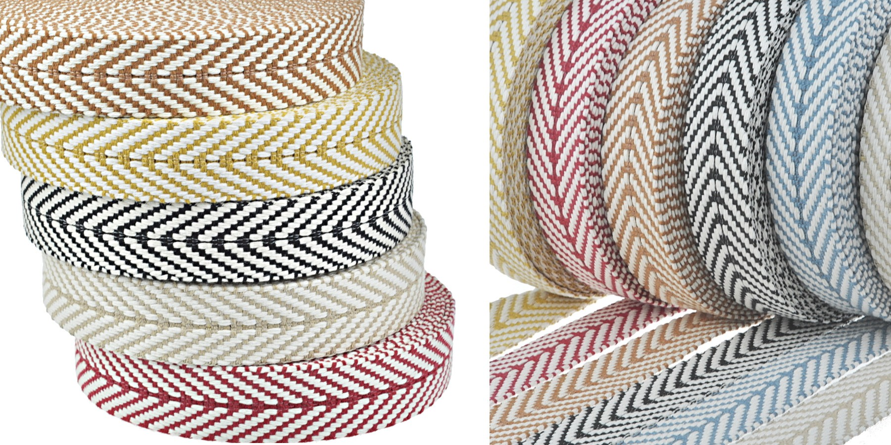 Gurtband aus recycelter Baumwolle